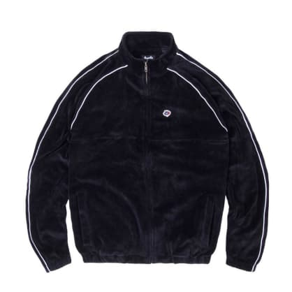 Magenta Velour Sport Jacket - Black