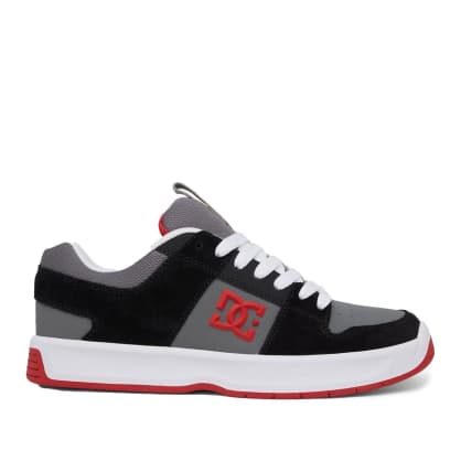DC Shoes Lynx Zero Leather Skate Shoes - Black / Grey / Red