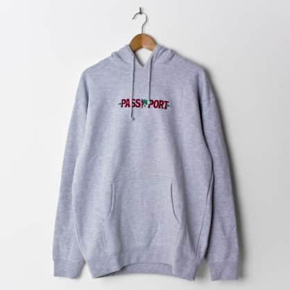 Pass~Port Life of Leisure Embroidery Hood Heather Grey