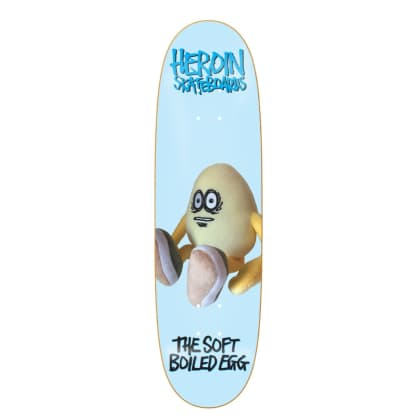 "Heroin Skateboards - 8.7"" The Soft Boiled Egg Skateboard Deck (Razortop)"