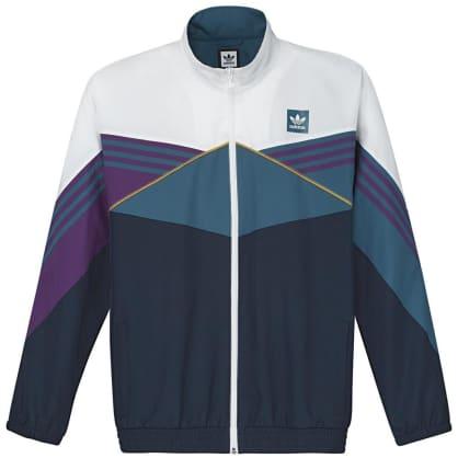 adidas Court Jacket - White / Collegiate Navy / Tribe Purple