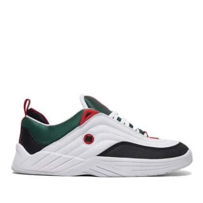DC Williams Slim Skate Shoes - White / Black / Athletic Red