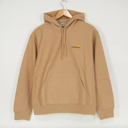 Carhartt WIP - American Script Pullover Hooded Sweatshirt - Dusty Hamilton Brown