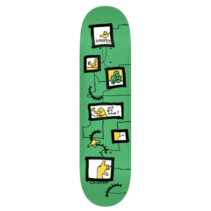 Krooked Skateboards Deck Cromer Frames Green 8.125""