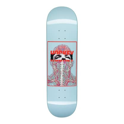 Hockey Skateboards - Hockey John Fitzgerald Nerves Skateboard Deck Blue | 8.5""