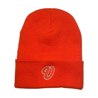 Venue Cursive V Beanie Orange