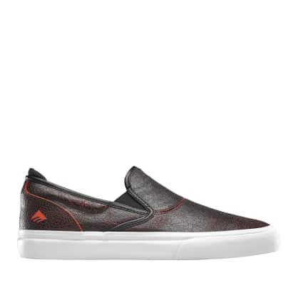 Emerica Wino G6 Slip-On Skate Shoes - Black / Red / White