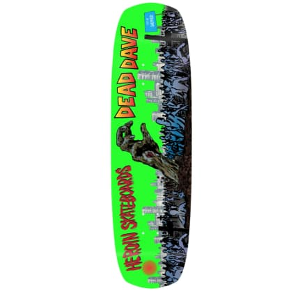 Heroin Skateboards Dead Dave Pro Deck | Double Shovel 9.00""
