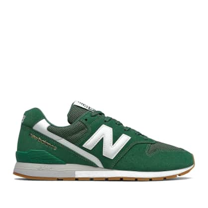 New Balance 996 Shoes - Forest Green / White