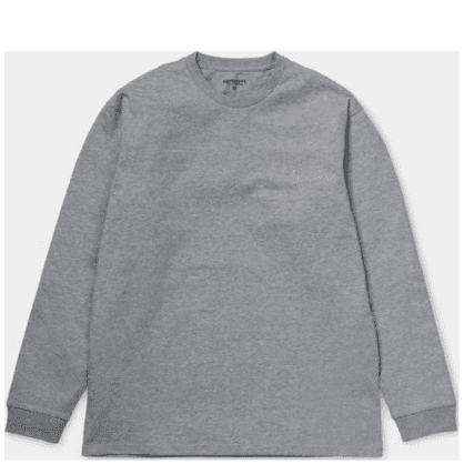 Carhartt WIP Chase Long Sleeve T-shirt - Heather Grey / Gold
