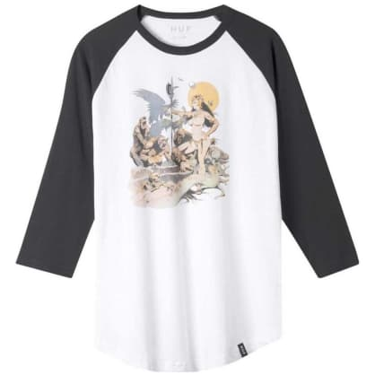 HUF Frazetta Rocker Raglan Long Sleeve T-Shirt - White
