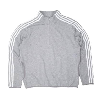 Adidas Terry Track Top Jacket - Grey/White