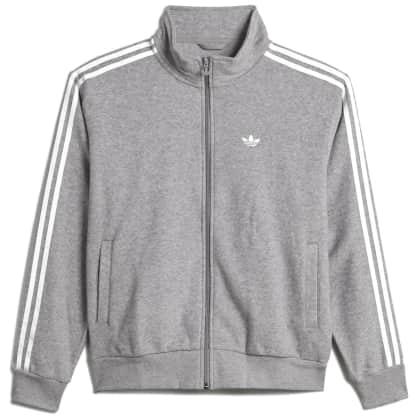 adidas Skateboarding Boucle Firebird Track Jacket - Medium Grey Heather / White