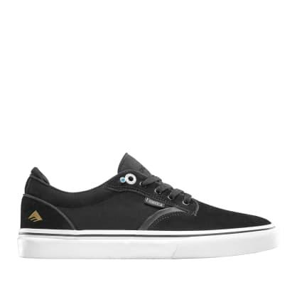 Emerica Dickson Skate Shoes - Black / White / Gold