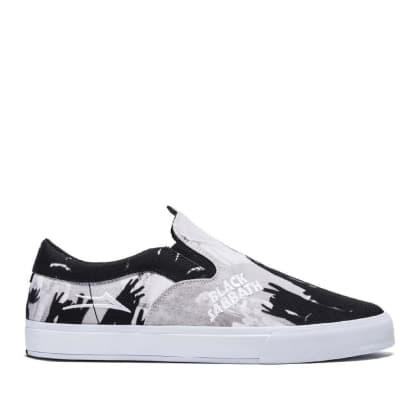 Lakai x Black Sabbath Owen VLK Canvas Skate Shoes - Black / White