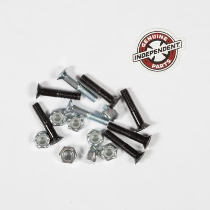 "INDEPENDENT 1"" Cross Bolts Hardware Black/Silver"