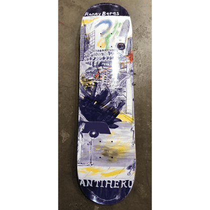Antihero Raney Beres SF Then and Now Skateboard Deck