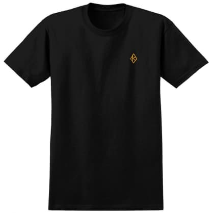 Krooked Tee Diamond K Black/Gold Emb.