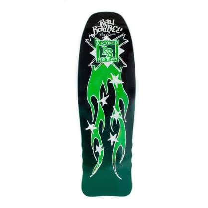 "Krooked Skateboards - 10.0"" Ray Barbee Flames Shaped Skateboard Deck (Green)"