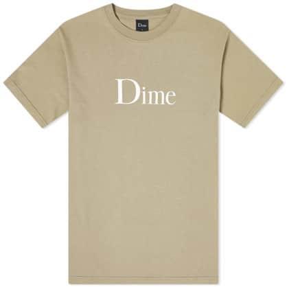 Dime Classic Logo T-Shirt - Beige