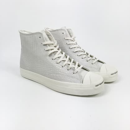 Converse Cons - POP Trading Jack Purcell Pro High Shoes - Egret / Black