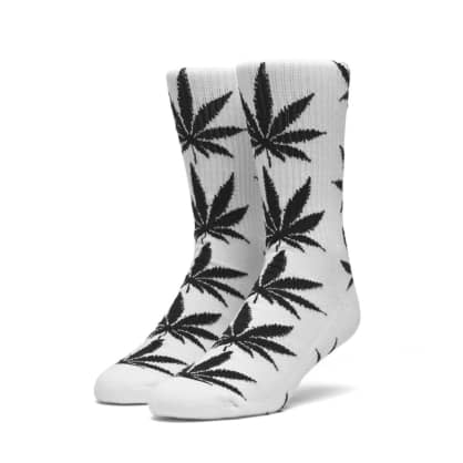 HUF PLANTLIFE SOCKS - WHITE BLACK
