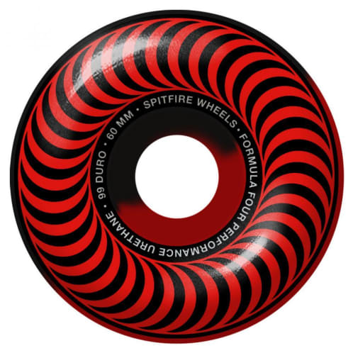 Spitfire Formula Four Swirl 101 Wheels red/black 101DU 60mm
