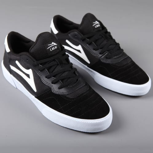 Lakai 'Cambridge' Skate Shoes (Black / White Suede)