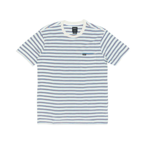 RVCA Vincent Stripe T-Shirt - Silver Bleach