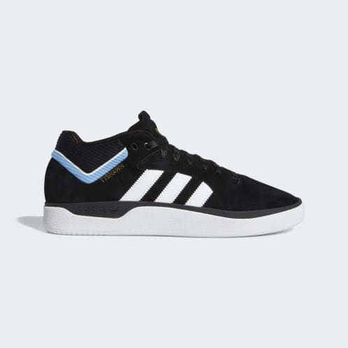 adidas Tyshawn Jones Shoes - Core Black/Cloud White/Light Blue