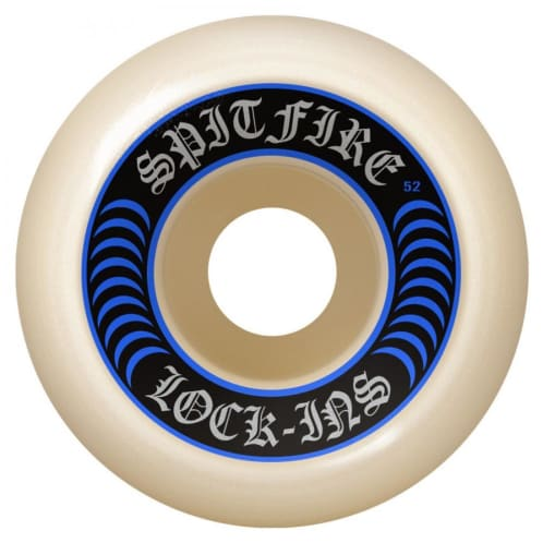 Spitfire Wheels - Spitfire Formula Four Lock Ins Skateboard Wheels 99D Blue | 53mm Skate Wheels