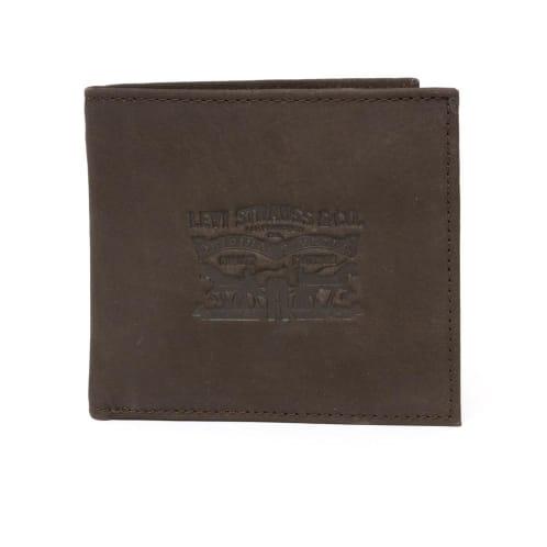 Levis Vintage Two Horse BiFold Coin Wallet - Dark Brown
