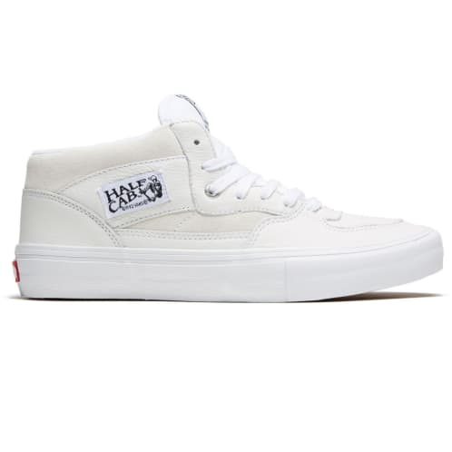 Vans Half Cab Pro Shoes - Leather/White