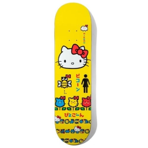 Girl X Hello Kitty Mike Mo Skateboard Deck 8.25""