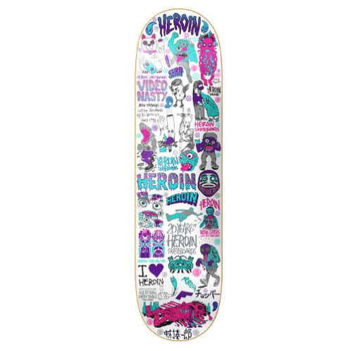 "Heroin Skateboards - 8.44"" 20 Year Part III Deck"