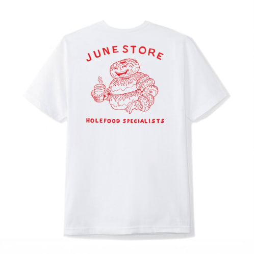 June - Hole Food Specialist Mens Tee - White, Red
