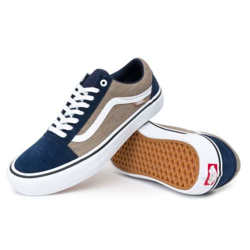 Vans Old Skool Pro Shoes - Twill Dress Blues/Portabella