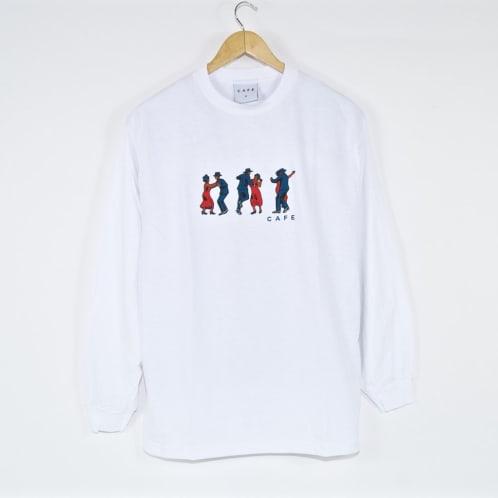 Skateboard Cafe - Dance All Over Longsleeve T-Shirt - White