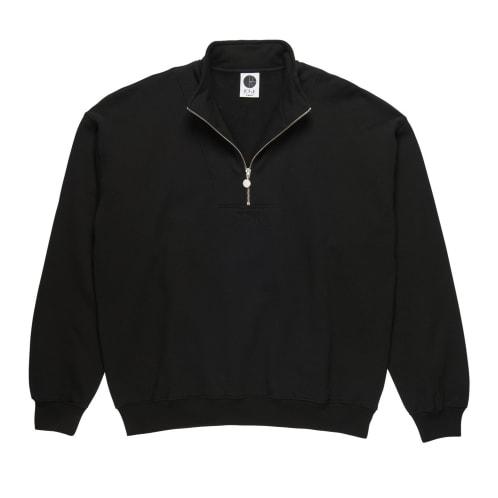 Polar Zip Neck Sweatshirt - Black