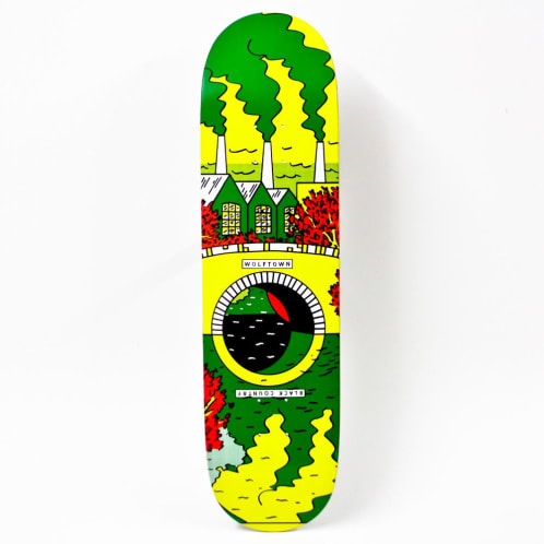 """Wolftown Black Country Reflections Series - Green/Yellow 8.25"""""""