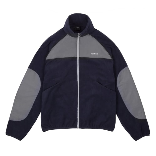 Dime Polar Fleece Track Jacket - Navy/Charcoal