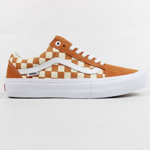 Vans Old Skool Pro Shoes (Checkerboard) Golden Oak