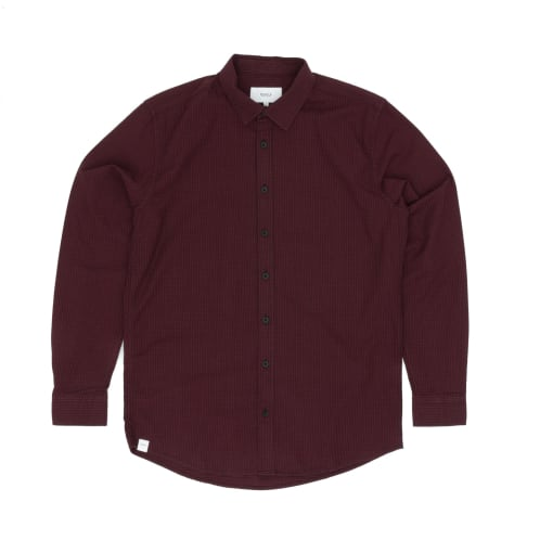 Makia Manor Long Sleeved Shirt - Dark Red