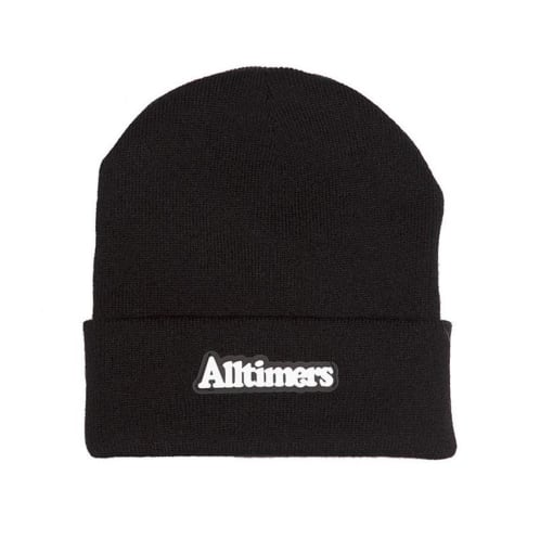 Alltimers Broadway Rubber Beanie - Black