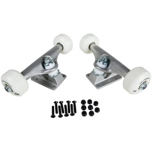 Sushi Full Skateboard Undercarriage Kit Trucks 5.25 Wheels 52mm Bearings Abec 5