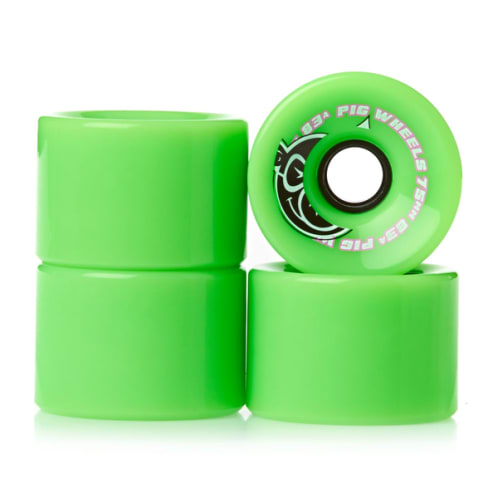 Pig Wheels - 75mm (83A) Voyager Wheels - Green
