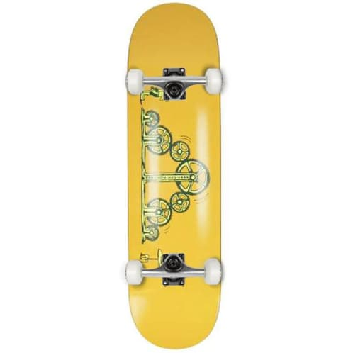 Pass~Port - Decisions Deck (Yellow) Complete Skateboard - 8.25""