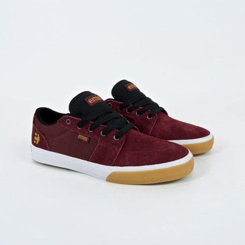 Etnies - Barge LS Shoes - Burgundy / Tan / White