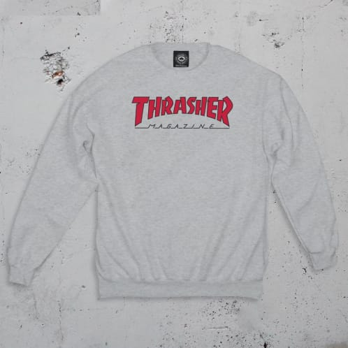 Thrasher Outlined Logo Sweatshirt - Ash Grey