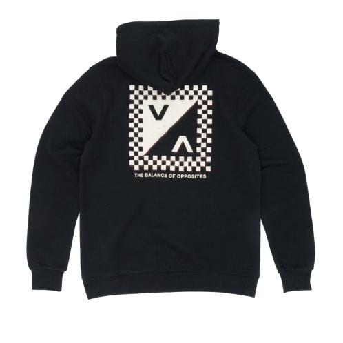 RVCA Check Mate Hooded Sweatshirt - Black